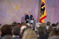 22 FEB 2013, BERLIN/GERMANY:<br /> Joachim Gauck, Bundespraesident, haelt eine Rede zu Europa, Schloss Bellevue<br /> IMAGE: 20130222-02-027<br /> KEYWORDS: Europarede, speech, Europe, Bellevue Forum