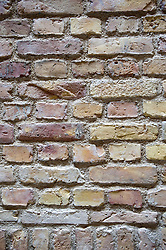 Detail of new brickwork wall at recently renovated Neues Museum in Berlin 2009 Architect David Chipperfield