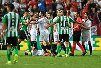 Sevilla FC - Real Betis,Liga Santander 2016/17<br /> <br /> Sevilla FC - Real Betis ,Liga Santander,2016/17, momentos de tensión en ambos equipos Sevilla ,Spain,estadio Sanchez Pizjuan,<br /> <br /> Norway only