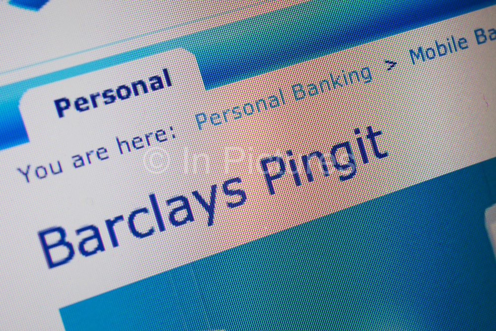 Pingit website on a Mac laptop computer. Barclays bank launched Europe's first money sending service that allows UK current account customers to send and receive cash through their mobile phones, 16th February 2012. Barclays' customers can download the bank's Pingit app to their smartphone and start making instant money transfers to anyone with a UK-based mobile phone and a current account with any UK bank. The app, which will be extended to all UK banking customers by early March, is free to use. It is aimed at an increasingly mobile-orientated public who use their phone to manage many aspects of their lives.