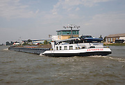 Bulk carrier cargo barge 'Enterprise' on River Maas waterway, Port of Rotterdam, Netherlands