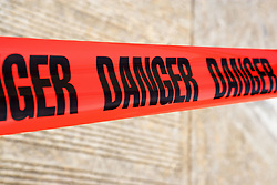 Dec. 13, 2012 - Danger tape (Credit Image: © Image Source/ZUMAPRESS.com)