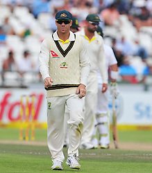 Cape Town-180324 Australian  David Warner bowling  against  South Africa in the secong Innings of the 3rd sunfoil cricket test at Newlands cricket stadium..Photograph:Phando Jikelo/African News Agency/ANA