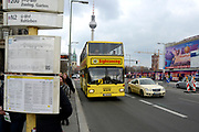 Berlin  is the capital of Germany, and one of the 16 states of Germany. It is the second most populous city proper and the seventh most populous urban area in the European Union. <br /> <br /> On the photo: Public Transport