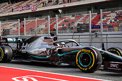 February 19, 2019 - Montmelo, BARCELONA, Spain - SPAIN, BARCELONA, 19 February 2019. Lewis Hamilton driver of Mercedes AMG during the second day of winter test at Circuit de Barcelona Catalunya. (Credit Image: © AFP7 via ZUMA Wire)