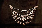 Phoenecian gold jewellery. 5th century BC.