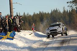 14.02.2015, Karlstad, Karlstad, SWE, FIA, WRC, Schweden Rallye, im Bild Ott Tanak/Raigo Molder (M-Sport WRT/Ford Fiesta RS WRC) // during the WRC Sweden Rallye at the Karlstad in Karlstad, Sweden on 2015/02/14. EXPA Pictures © 2015, PhotoCredit: EXPA/ Eibner-Pressefoto/ Bermel<br /> <br /> *****ATTENTION - OUT of GER*****