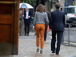 © Licensed to London News Pictures. 03/05/2012. Westminster, UK . Samantha CameronBritish Prime Minister David Cameron and his wife Samantha Cameron leave after voting at Central Methodist Hall in the Mayoral Elections in London today 3rd May 2012 . Photo credit : Stephen Simpson/LNP