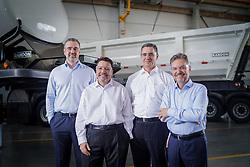 Daniel Randon, Sérgio Carvalho, David Abramo Randon e Alexandre Gazzi (D). FOTO: Jefferson Bernardes/ Agência Preview