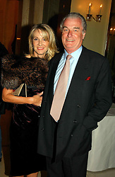 """LORD & LADY BELL at a party to celebrate the publication of Bruce Oldfield's autobiography """"Rootless"""" held in aid of Crimestoppers at Claridge's, Brook Street, London W1 on 22nd September 2004.<br /><br />NON EXCLUSIVE - WORLD RIGHTS"""