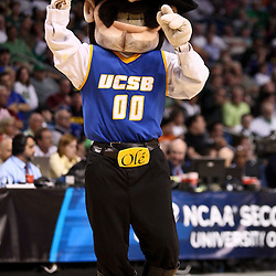 Mar 17, 2011; Tampa, FL, USA; The UC Santa Barbara Gauchos mascot during second half of the second round of the 2011 NCAA men's basketball tournament against the Florida Gators at the St. Pete Times Forum. Florida defeated UCSB 79-51.  Mandatory Credit: Derick E. Hingle