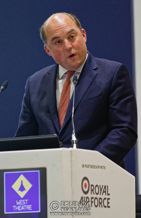 London, United Kingdom - 11 September 2019<br /> The Rt Hon Ben Wallace MP. Secretary of State for Defence for the UK Government presents keynote address speech to audience at DSEI 2019 security, defence and arms fair at ExCeL London exhibition centre.<br /> (photo by: EQUINOXFEATURES.COM)<br /> Picture Data:<br /> Photographer: Equinox Features<br /> Copyright: ©2019 Equinox Licensing Ltd. +443700 780000<br /> Contact: Equinox Features<br /> Date Taken: 20190911<br /> Time Taken: 12364800<br /> www.newspics.com