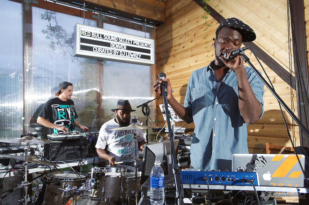 Oren L performs at Red Bull Sound Select Presents: Denver at The Meadowlark in Denver, CO, USA, on 30 August, 2014.