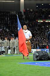 November 12, 2016 - Toulouse, France - Porte drapeau Samoa (Credit Image: © Panoramic via ZUMA Press)
