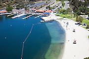 Aerial Stock Photo of Playa del Norte Facility and Beach at Lake Mission Viejo California