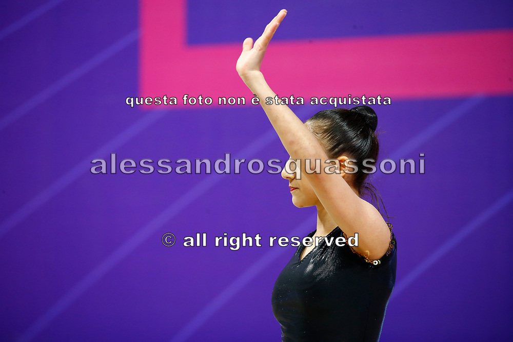 Agamirov Zohra from Azerbaijan performs during the 2021 Pesaro World Cup.