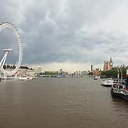 London Eye and Thames - London, UK