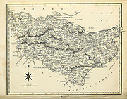 Early 19th century map of Kent [England] Copperplate engraving From the Encyclopaedia Londinensis or, Universal dictionary of arts, sciences, and literature; Volume XI;  Edited by Wilkes, John. Published in London in 1812