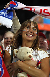 Fan of Russia in Innsbruck during the UEFA EURO 2008 Group D soccer match between Sweden and Russia at Stadion Tivoli NEU, on June 18,2008, in Innsbruck, Austria.  (Photo by Vid Ponikvar / Sportal Images)