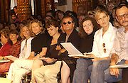 front row including Patrick Demachelier, Terry Richardson . Yves St. Laurent couture show. Intercontinental. Paris. 11 July 2001. © Copyright Photograph by Dafydd Jones 66 Stockwell Park Rd. London SW9 0DA Tel 020 7733 0108 www.dafjones.com