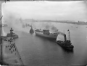 "20/09/1952<br /> 09/20/1952<br /> 20 September 1952<br /> Launch of the steamship ""Isolda"" for Irish Lights, at the Liffey Dockyard Co. Ltd., Dublin."