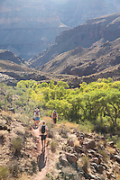 Hiking Thunder River to Deer Creek Loop while rafting the Grand Canyon. Grand Canyon NP, AZ.