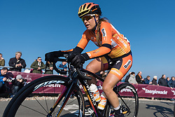 Karol Ann Canuel has the top of the Vamberg in her sights - Drentse 8, a 140km road race starting and finishing in Dwingeloo, on March 13, 2016 in Drenthe, Netherlands.