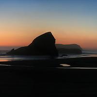 Shark Fin Rock in Oregon