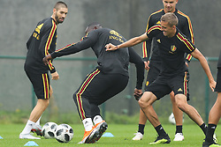 September 5, 2018 - Tubize, BELGIUM - Belgium's Yannick Carrasco, Belgium's Romelu Lukaku and Belgium's Timothy Castagne fight for the ball during a training session of Belgian national soccer team the Red Devils in Tubize, Wednesday 05 September 2018. The team is preparing for a friendly match against Scotland on 07 September and the UEFA Nations League match against Iceland on 11 September. BELGA PHOTO BRUNO FAHY (Credit Image: © Bruno Fahy/Belga via ZUMA Press)