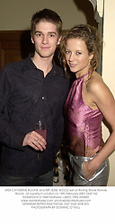 MISS CATHERINE BOONE and MR JESSE WOOD son of Rolling Stone Ronnie Wood,  at a party in London on 18th February 2001.	OLK 142
