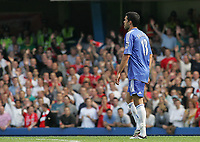 Photo: Lee Earle.<br /> Chelsea v Liverpool. The Barclays Premiership. 17/09/2006. Chelsea's Michael Ballack leaves the pitch after being shown the red card.