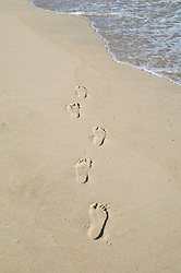 Male Foot prints on the beach