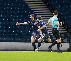 Queen's Park Ryan McGeever (5) cele scoring their second goal. Queen's Park 2 v 1 Airdrie, Scottish Football League Division One game played 7/1/2017 at Hampden.