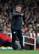 Leicester's Craig Shakespeare in action during the Premier League match at the Emirates Stadium, London. Picture date: April 26th, 2017. Pic credit should read: David Klein/Sportimage