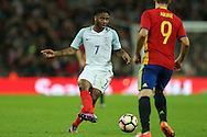 Raheem Sterling of England in action. England v Spain, Football international friendly at Wembley Stadium in London on Tuesday 15th November 2016.<br /> pic by John Patrick Fletcher, Andrew Orchard sports photography.