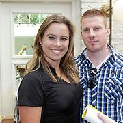 NLD/Amsterdam/20120614 - Presentatie wielerblad Tour Express, sportpsychologe Maaike Bierstekers en partner