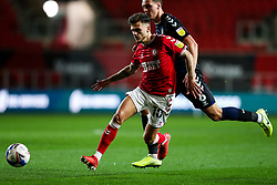 Jamie Paterson of Bristol City is challenged by Dael Fry of Middlesbrough - Rogan/JMP - 20/10/2020 - Ashton Gate Stadium - Bristol, England - Bristol City v Middlesbrough - Sky Bet Championship.