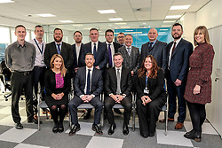 Derek Mackay visit, Wednesday, 18th December 2019<br /> <br /> Economy Secretary Derek Mackay today visited Emtec Group in Ratho Station to officially open their new office and comment on the latest GDP statistics.<br /> <br /> Pictured: Scottish Government Economy Secretary Derek Mackay with Emtec Group CEO Scott Stevenson and his team<br /> <br /> Alex Todd | Edinburgh Elite media