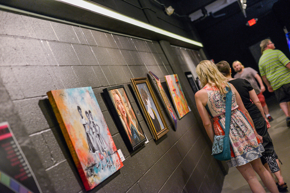 The Nightlight during opening weekend of Akron Art Prize 2015
