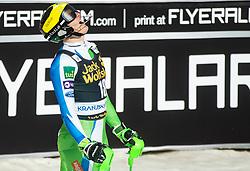 HADALIN Stefan of Slovenia reacts during the Audi FIS Alpine Ski World Cup Men's Slalom 58th Vitranc Cup 2019 on March 10, 2019 in Podkoren, Kranjska Gora, Slovenia. Photo by Matic Ritonja / Sportida
