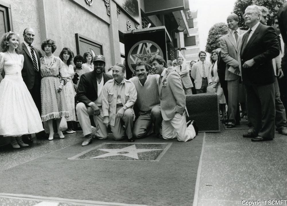 1986 Tom Selleck's Walk of Fame ceremony