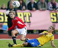 Fotball<br /> Landskamp J15/16 år<br /> Tidenes første landskamp for dette alderstrinnet<br /> Sverige v Norge 1-3<br /> Steungsund<br /> 11.10.2006<br /> Foto: Anders Hoven, Digitalsport<br /> <br /> Cathrine Dekkerhus - Kongsvinger / Norge