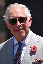 The Prince of Wales during a visit to Osu Castle, also known as Fort Christiansborg in Accra, Ghana, on day four of his trip to west Africa with the Duchess of Cornwall..