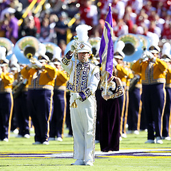 November 6, 2010; Baton Rouge, LA, USA; The LSU Tigers band performs on the field prior to kickoff of a game against the Alabama Crimson Tide at Tiger Stadium.  Mandatory Credit: Derick E. Hingle