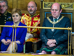 Pictured: Nicola Sturgeon and Frank Ross, Edinburgh's Right Honourable Lord Lieutenant and Lord Provost.<br /> <br /> The 2018 General Assembly of the Church of Scotland begins.This year's annual gathering runs until Friday May 25<br /> <br /> Ger Harley   EEm 19 May 2018