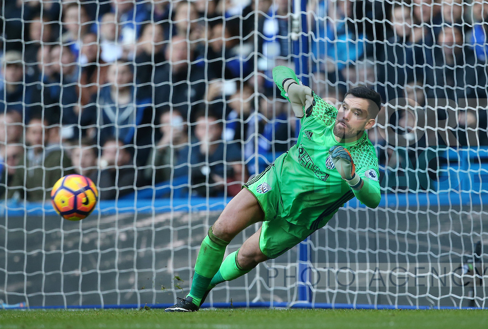 WBA's Ben Forster in action during the Premier League match at Stamford Bridge Stadium, London. Picture date December 11th, 2016 Pic David Klein/Sportimage