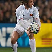 Maxime Medard, France, in action during the New Zealand V France, Pool A match during the IRB Rugby World Cup tournament. Eden Park, Auckland, New Zealand, 24th September 2011. Photo Tim Clayton...