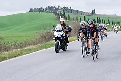 Tiffany Cromwell and Amy Pieters start to push the pace - 2016 Strade Bianche - Elite Women, a 121km road race from Siena to Piazza del Campo on March 5, 2016 in Tuscany, Italy.