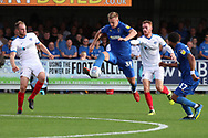 AFC Wimbledon striker Joe Pigott (39) dribbling during the EFL Sky Bet League 1 match between AFC Wimbledon and Portsmouth at the Cherry Red Records Stadium, Kingston, England on 13 October 2018.