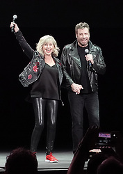 EXCLUSIVE: John Travolta and Olivia Newton John recreate their iconic Grease characters for the first time since the 1978 hit musical was made. The pair wowed fans in full costume at a 'Meet 'N Grease' sing-a-long event in West Palm Beach, Florida. The film starred Travolta, now 65, as greaser Danny Zuko and Newton-John, now. 71, as Sandy. It became the highest-grossing musical film ever at the time. Its soundtrack album ended 1978 as the second-best selling album of the year in the United States, behind the soundtrack of the 1977 blockbuster Saturday Night Fever, which also starred Travolta. 13 Dec 2019 Pictured: John Travolta; Olivia Newton John. Photo credit: MEGA TheMegaAgency.com +1 888 505 6342